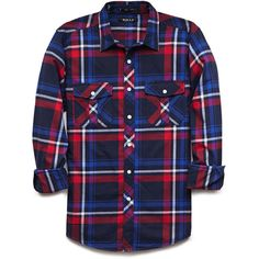 21 MENS Classic Fit Plaid Shirt ($18) ❤ liked on Polyvore