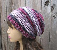 Crochet Hat  Slouchy  Hat Multicolored  Winter by EvasStudio, $36.00