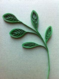 Rachielle's Quilling: Unique Leaf Technique