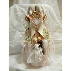 Vela decorada para bodas, un regalo con una armonia y belleza que nadie olvidará.