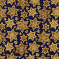 Robert Kaufman Fabrics: AJHM-4953-5 GOLD by Judy Hand from Inner Faith