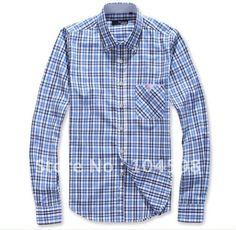 Blue plaid Slim cotton business shirt $20  http://www.aliexpress.com/store/104598/211445828-536197566/Free-Shipping-Fashion-Men-s-long-sleeved-Blue-plaid-Slim-cotton-business-shirt-M-L-XL.html