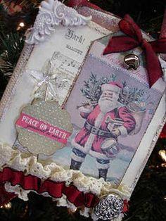 Christmas canvas ornament