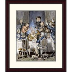 Global Gallery 'Illustrations for the Adventures of Baron Munchausen' by Alphonse Adolf Bichard Framed Painting Print Size: