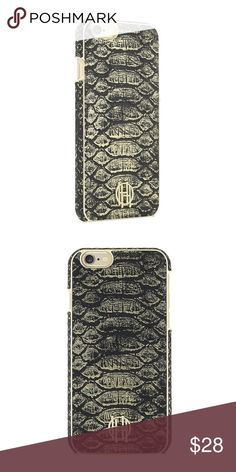 House of Harlow 1960 Snake Print iPhone 6 case NWT Brand New sealed in box House of Harlow 1960 snake print iPhone 6/6s case. Raised metallic logo. Micro suede inner lining. HHIPH-001-BLKMSG Black/Gold/Metallic Snake House of Harlow 1960 Accessories Phone Cases