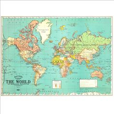 World map poster country names 12x16 other sizes travel artwork world map poster country names 12x16 other sizes travel artwork travel gift farewell playroom pinterest country playrooms and room gumiabroncs Images