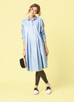 Burda Casual Maternity Shirt-Dress 01/2015 (I think I'd take it up to the knees. Maybe shorter sleeves.)