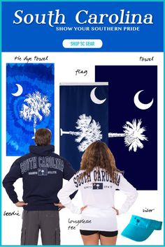 We're happy it's Friday, but today we're feeling BLUE too! South Carolina is where we call home, and we know so many of you are out there representing the Palmetto State! Whether you're near or far, we've selected products that show off the iconic SC look you love. Pick out a towel, sweatshirt or hat at Eagles Beachwear today.