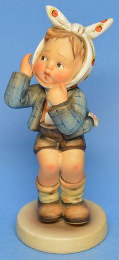 """MI Hummel Goebel Figurine """" Boy With Toothache """" Hum 217 TMK 2 (1950-1959)"""