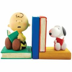 Peanuts Charlie and Snoopy Bookends