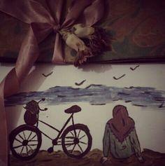 #bicycle #sea #bird #watercolor #bahr