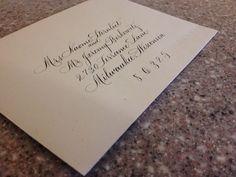 "Hand lettered Envelope Calligraphy Addressing ""Rook"""