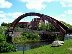 Beautiful!  Houlton is such a nice place to visit, and it's a perfect place to introduce yourself to Aroostook County!  :-)  |  footbridge in Houlton, Maine