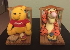 Disney Winnie the POOH & Tigger Plush Bookends Buddies Books Decor in Collectibles, Decorative Collectibles, Book Ends | eBay