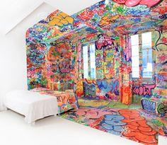 Graffiti hotelroom