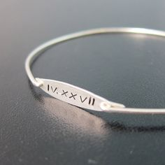 Roman Numeral Bracelet Roman Numeral Jewelry by FrostedWillow, $34.95