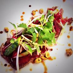 Northumbrian Beef Tataki Salad #food