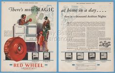 1929 American Stove Co St Louis MO Lorain Gas Red Wheel Antique Kitchen Ad