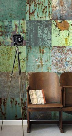 Home Decorating DIY Projects  :     ESTAhome.nl – maak je huis gezellig! wallpaperXXL len platen groen behang, fotobehang, gordijnstof en dekbedovertrekken    -Read More –