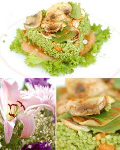 Cous Cous con espinacas, muy simple, sano, sabroso y original.