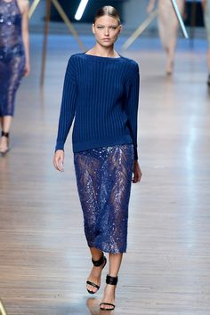 Jason Wu | Spring 2014 Ready-to-Wear Collection | Style.com ribbed sweater and sequined skirt