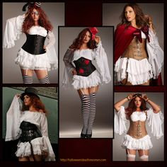 Love these Romantic  Plus Size Corset Costumes! http://halloweenideasforwomen.com/sexy-plus-size-corset-costumes/