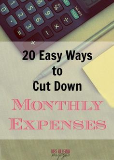 20 Easy Ways to Cut Down Monthly Expenses - Finance tips, saving money, budgeting planner Save Money On Groceries, Ways To Save Money, Money Tips, Money Saving Tips, Earn Money, Frugal Living Tips, Frugal Tips, Frugal Meals, Making A Budget