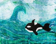 Gelli Arts® + Jane Davenport Gel Printing with Watercolor by Marsha Valk Gelli Plate Printing, Gelli Arts, Whale Art, Ink Painting, Printmaking, Stencils, Arts And Crafts, Sketches, Plates