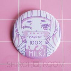 okaywowcool:  100% milk pin| $3.50  follow my original blog for more fresh content!