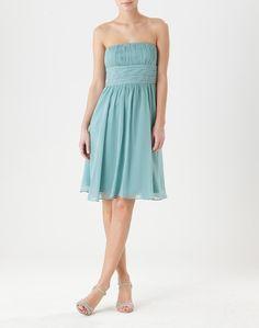 noemiepois_1 Strapless Dress, Dresses, Fashion, Bustier Dress, Gowns, Dress Ideas, Green, Blue, Fashion Ideas