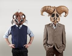 """A collection of cardboard masks created by Eugene Paunil entitled """"From Cardboard"""" was exhibited at Manta Contemporary in October."""