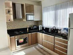 Cozinha Simple Kitchen Design, Luxury Kitchen Design, Kitchen Cabinet Design, Kitchen Layout, Interior Design Kitchen, Kitchen Shop, Home Decor Kitchen, Kitchen Modular, Home Room Design