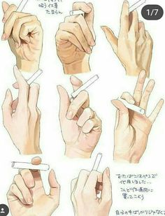 Cigarette Hand Reference Drawing Illustration by lana Drawing Skills, Drawing Poses, Drawing Techniques, Figure Drawing, Drawing Sketches, Drawing Tips, Drawing Hands, Sketching, Holding Hands Drawing