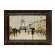 Paris in the Rain Framed Art Print   Kirklands