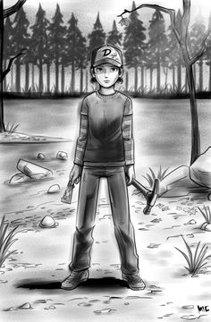 Clementine Staying Strong by mivion on deviantART