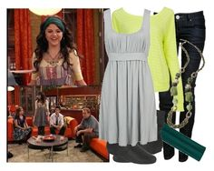 """""""Selena Gomez as Alex Russo"""" by jc10 ❤ liked on Polyvore featuring Disney, Charlotte Russe, Forever 21, Avon, Dorothy Perkins, alex russo, taxi dance, wizards of waverly place, selena gomez and wowp"""