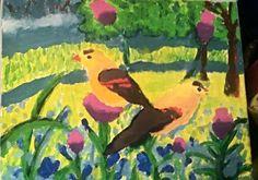 acrylic birds Lydia Sutton