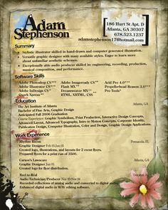 My resume by ~WishRecurred on deviantART