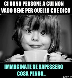 Funny Photos, Funny Images, Italian Quotes, Funny Comics, Funny Cute, Hilarious, Slogan, Decir No, Quotations