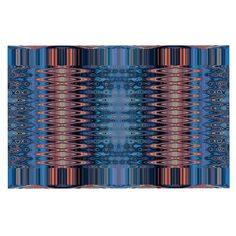 KESS InHouse Nina May 'Larina Nueva Sky' Blue Orange Dog Place Mat, 13' x 18' *** Don't get left behind, see this great dog product : Dog food container