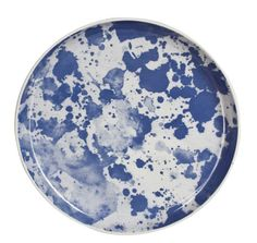 Blue Water Colour Ceramic Plate – Large   bonnie and neil