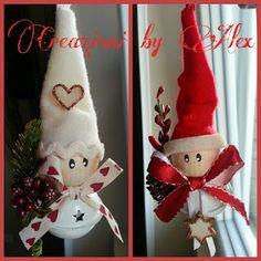 Feltro Stoffa e Scrapbooking: Babbini campanellini Christmas Fabric Crafts, Christmas Craft Projects, Felt Christmas Decorations, Diy Christmas Ornaments, Christmas Crafts, Christmas Rock, Christmas Bells, Christmas Items, Christmas Angels