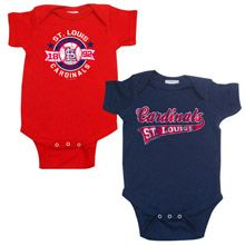 St. Louis Cardinals Boy's 2 Pack Creeper Set by Soft as a Grape