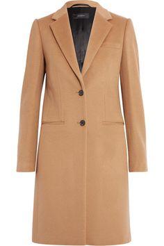 Cedric Charlier Beige Wool Blend Felt Coat ($800) ❤ liked on ...