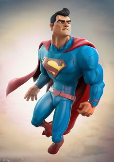 Superman rebirth costume almost in a Pixar style by Aliel Rocha Prates on Behance Mundo Superman, Superman Art, Superman Family, Superman Man Of Steel, Superman Stuff, Batman, Dc Comics Characters, Dc Comics Art, Hq Marvel