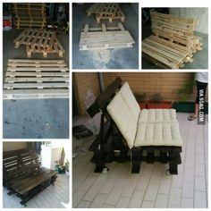 DIY. Pallet sofa.