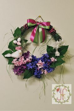 Doves Wreath Spring Wreath Front Door Wreath Easter Decor