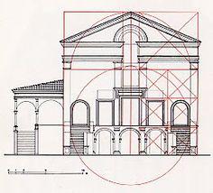 Leon Battista Alberti  - design for church of San Sebastiano, Mantova (Mantua, Italy) 15th century