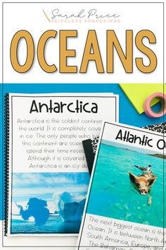 Teach your students about the 5 oceans with fun reading passages, digital power point slides, and more! Continents And Oceans, 5 Oceans, Geography Activities, Ocean Activities, Fun Writing Prompts, Cool Writing, Second Grade Science, Early Finishers Activities, Social Studies Resources