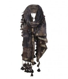 all saints bedouin scarf with excellent fringe